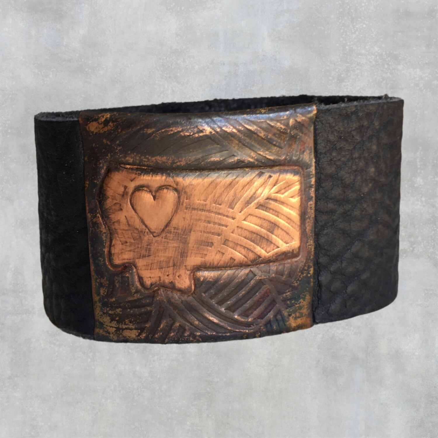26-12 MT State Leather Cuff $30
