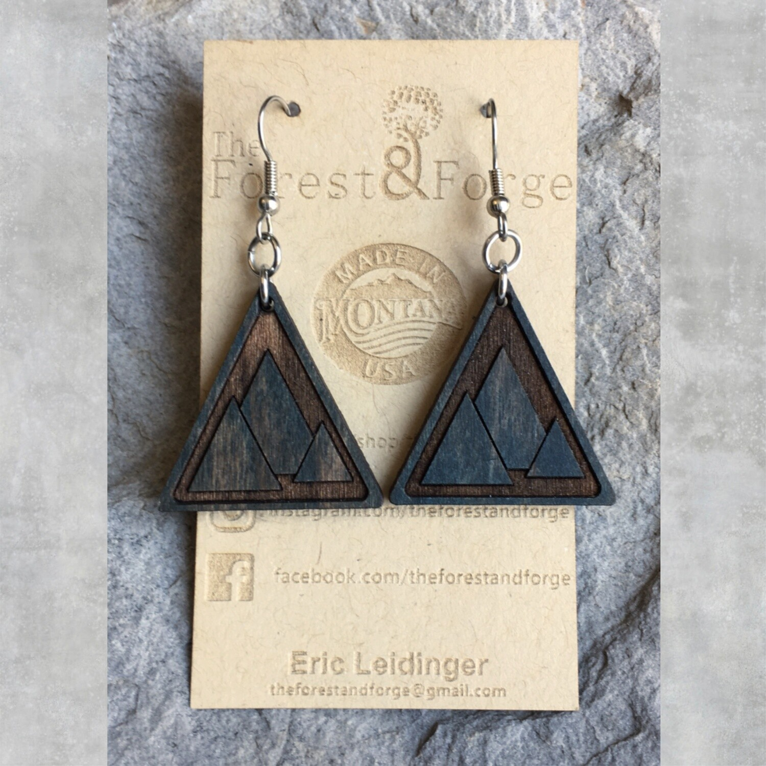 25-11 Wood Earrings $28