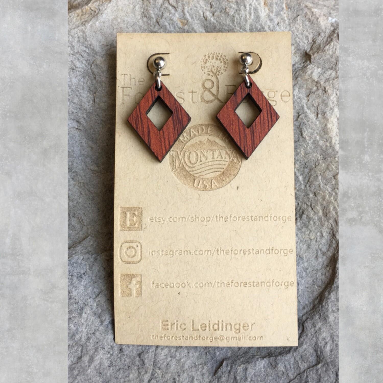 25-16 Bloodwood Earrings $15