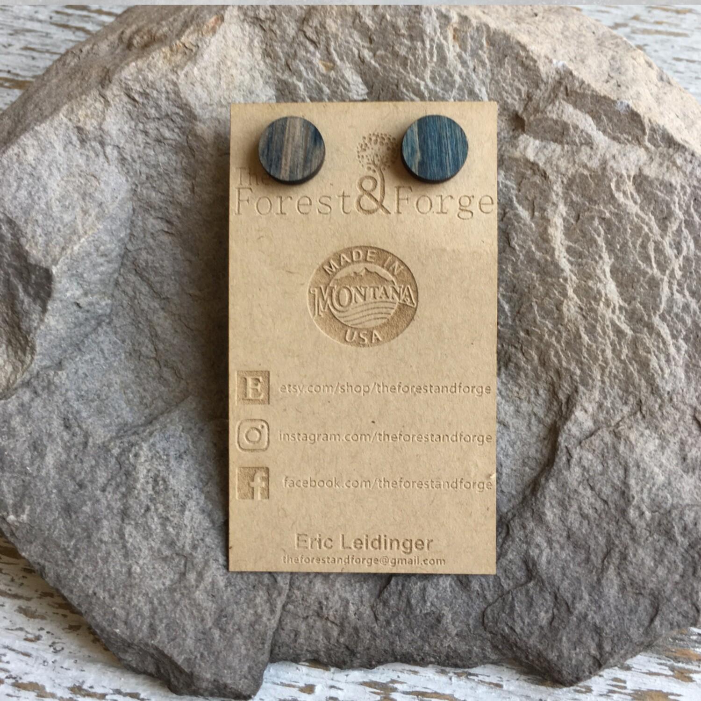 25-14 Stained Alder Wood Earrings $18