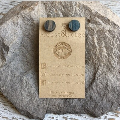 25-14 Stained Alder Wood Earrings $18