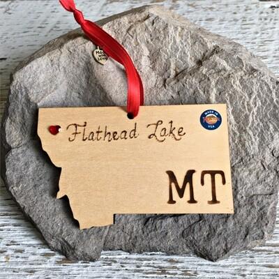 40-20 Flathead Lake MT Ornament