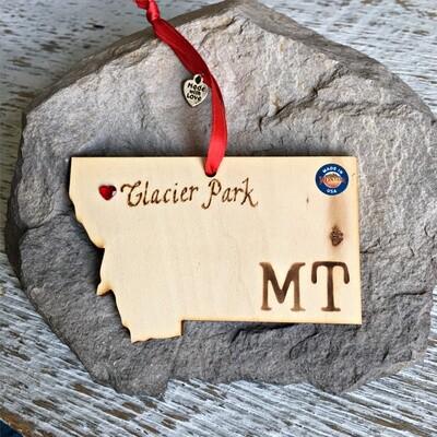 40-20 Glacier Park MT Ornament