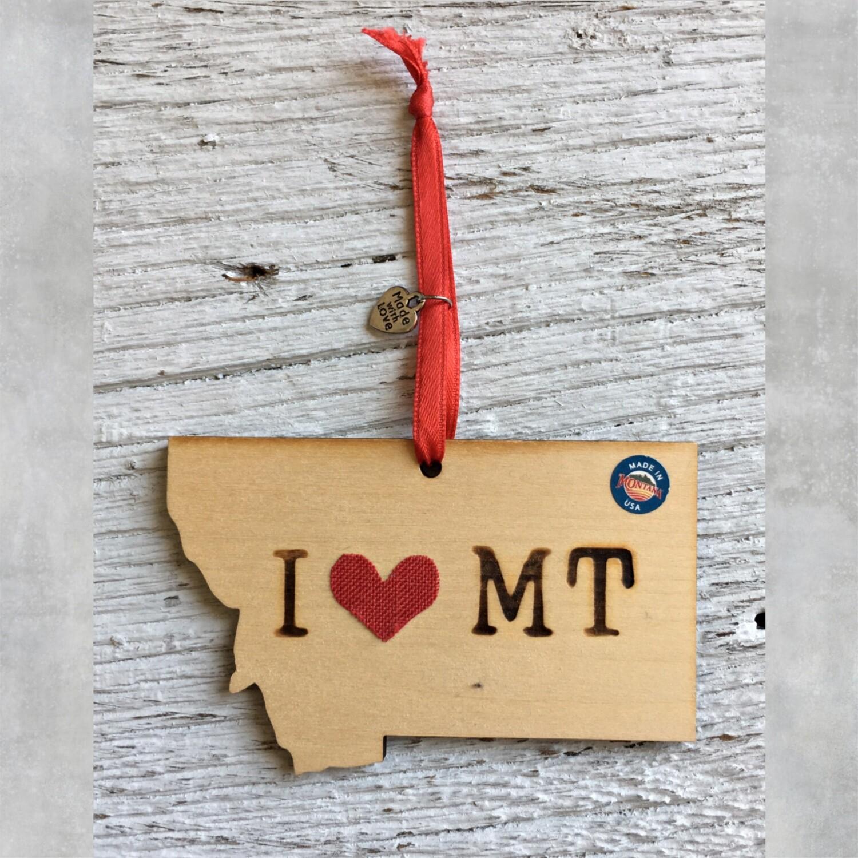 I Heart MT Ornament