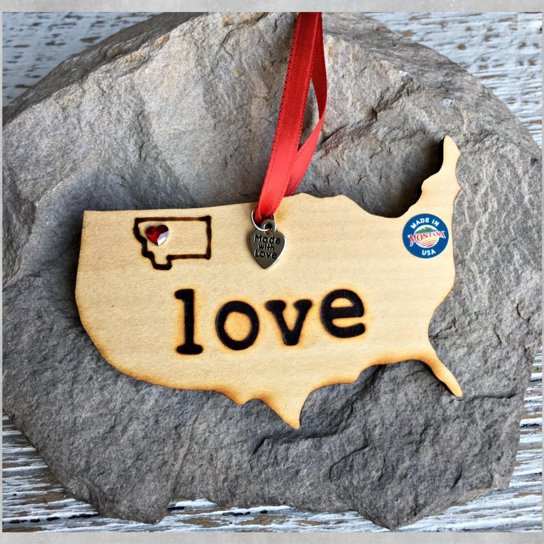 Love State Ornament