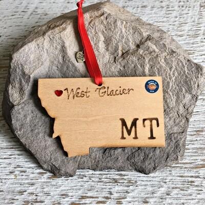 40-20 West Glacier MT Ornament