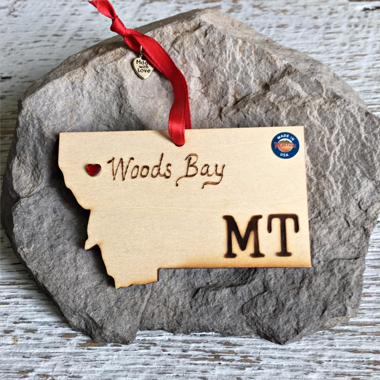 40-20 Woods Bay MT Ornament