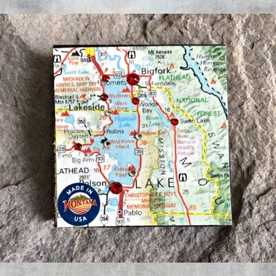 Map Magnet 40-1-6