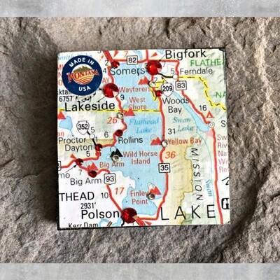 Map Magnet  40-1-9