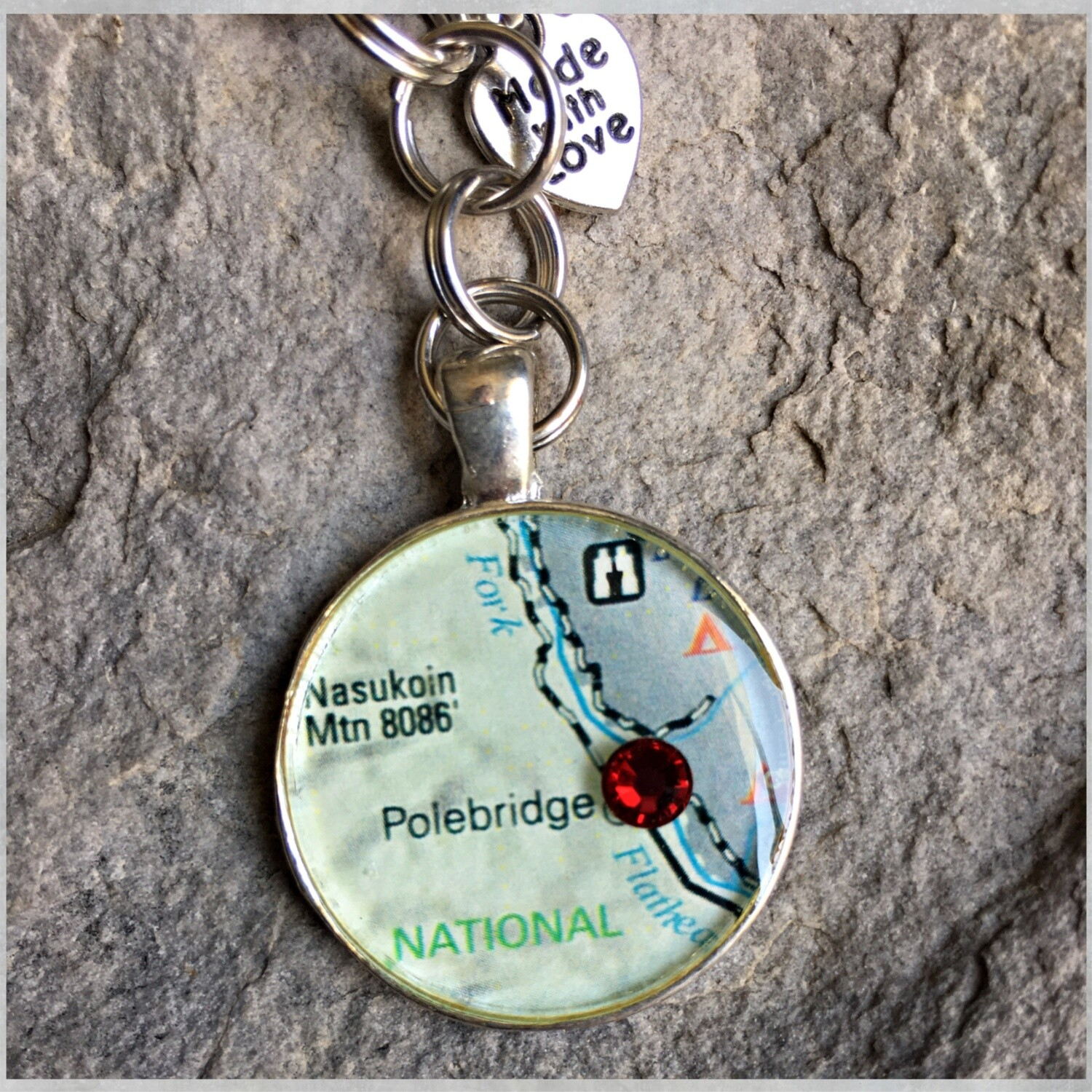 Polebridge Map Keychain 40-19-3