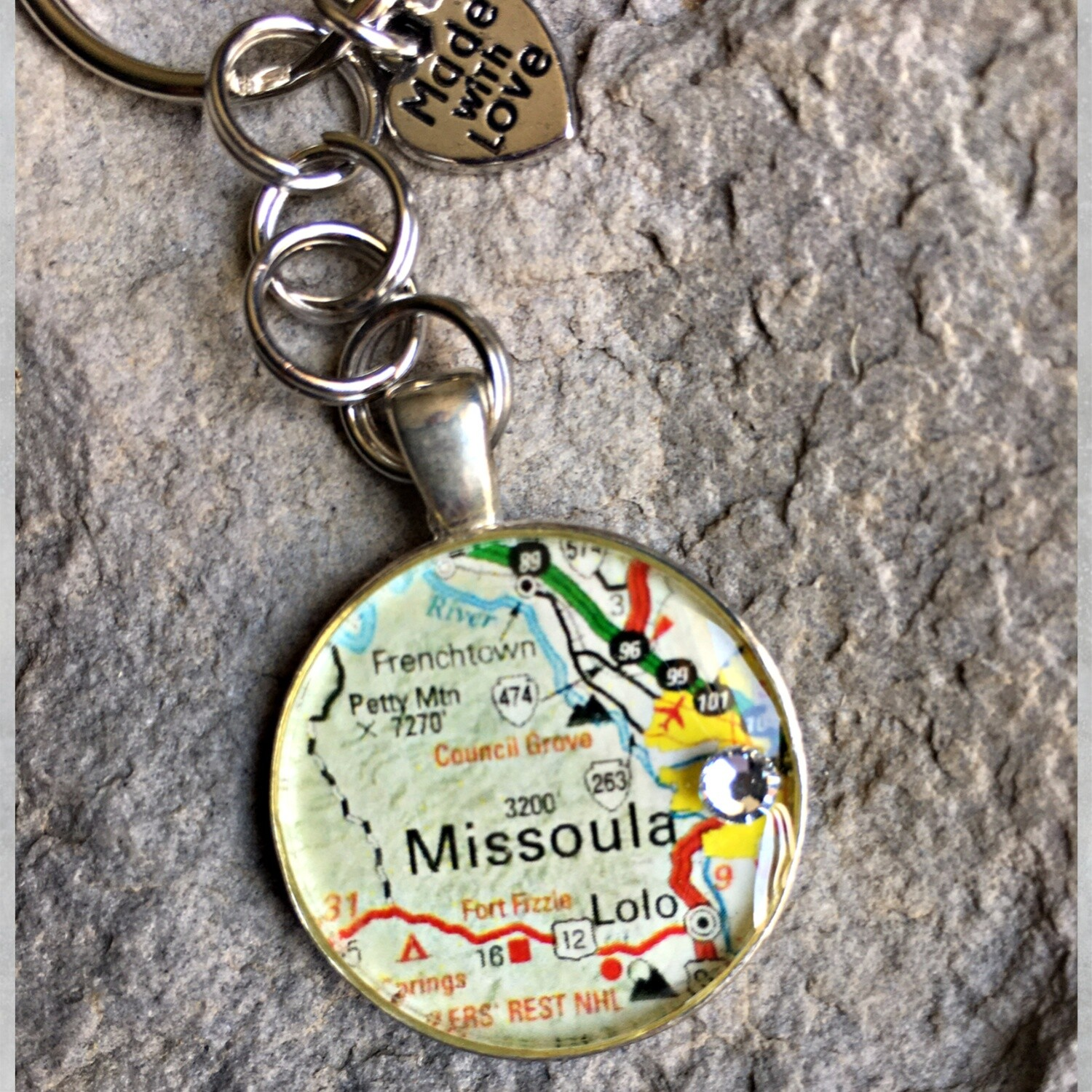 Missoula Map Keychain 40-19-21