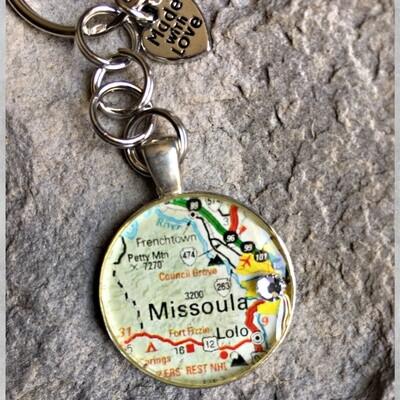 Missoula Map Keychain 40-19-21