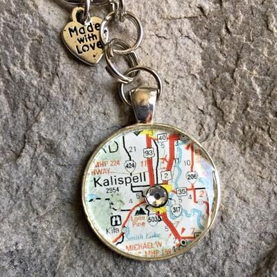 Kalispell Map Keychain 40-19-23