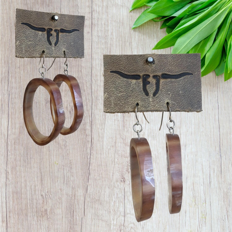 Longhorn Earrings 62-6-6