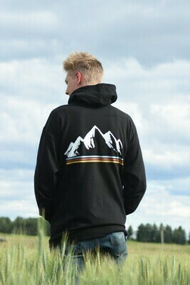 Montana Mountains Unisex Zip-Up Hoodie