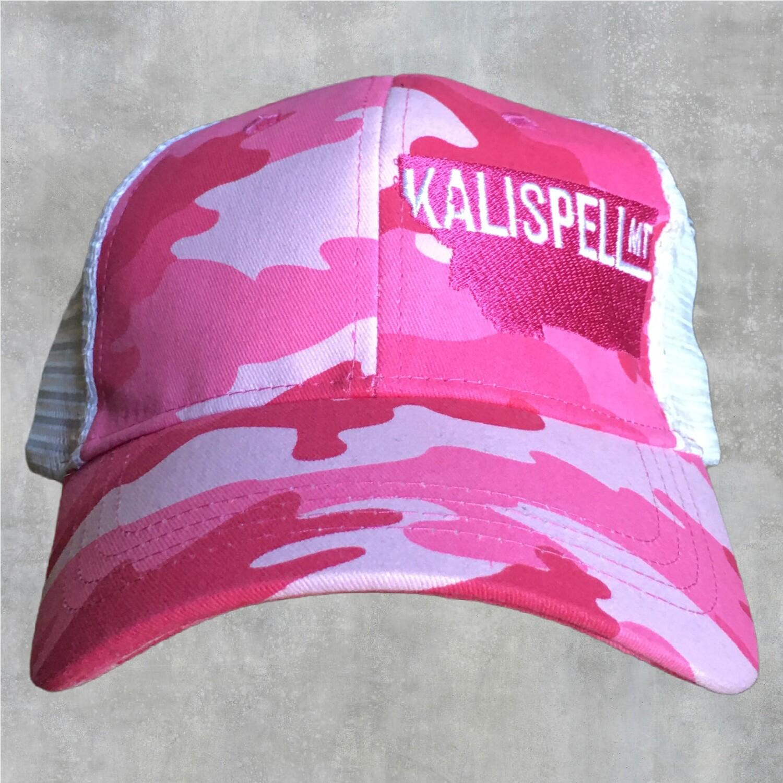 Kalispell Pink Camo Snap Back Hat