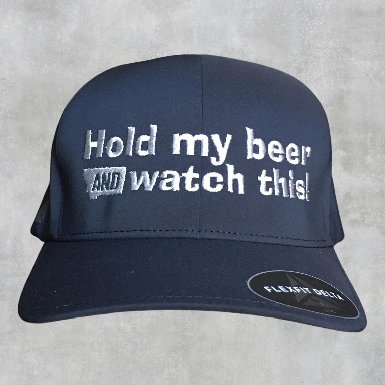 Hold My Beer FlexFit Delta Hat