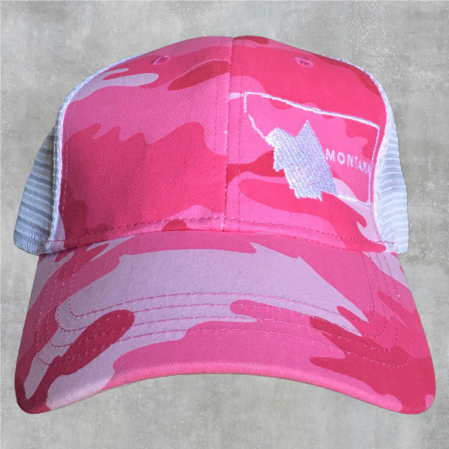 Montana Pink Camo Embroidered Hat