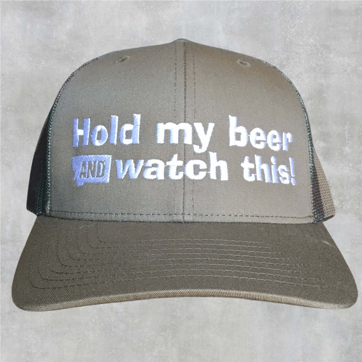Hold My Beer Richardson Military Green/Camo Hat