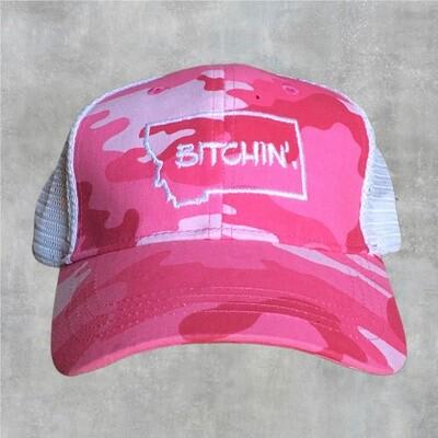 Bitchin Pink Camo Hat
