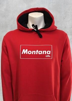 Montana Life Brick Unisex Red Hoodie