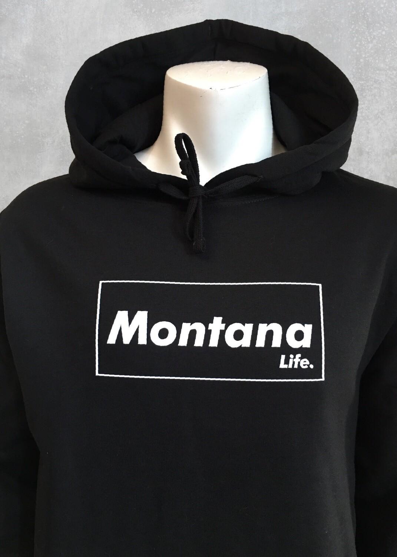 Montana Life Brick Unisex Black Hoodie