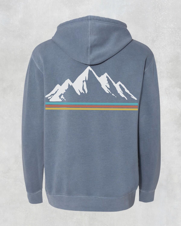 Montana Mountains Slate Blue Unisex Hoodie