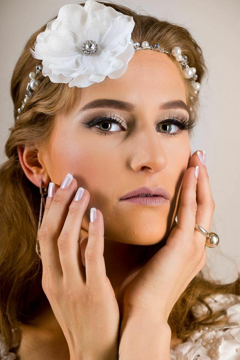 Wired Floral Bridal Crown