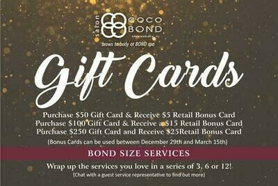 CoCo BOND Gift Card Promo ($50-250)