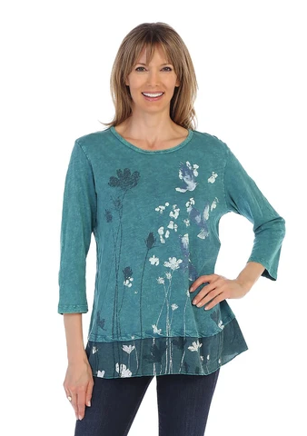 "Jess & Jane Mineral Wash ""Free Fly"" Tunic Top"