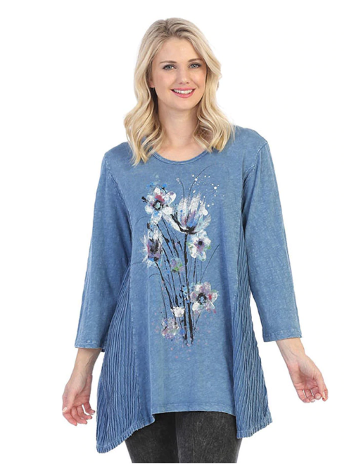 "Jess & Jane ""Felicity"" Mineral Wash Tunic Top"