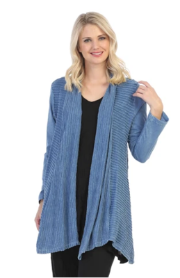 Jess & Jane Wave Open Front Cardigan