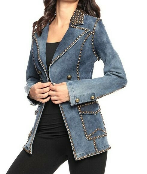 Adore Denim Studded Jacket