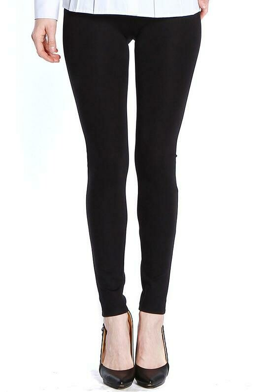 Slim-Sation Ponti Knit Black Leggings