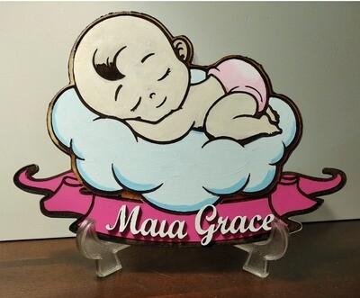Baby Newborn Customizable Plaque