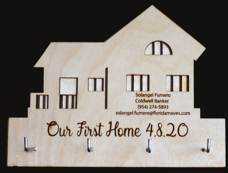 Key Holder - House         Customization Available
