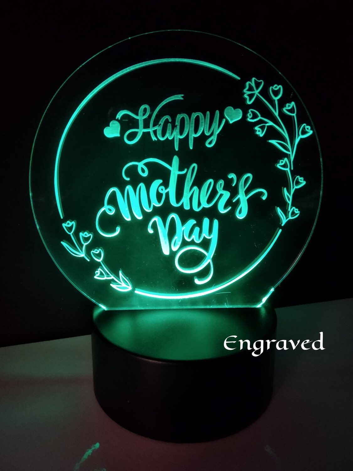 Happy Mother's Day Acrylic LED Lit Plaque