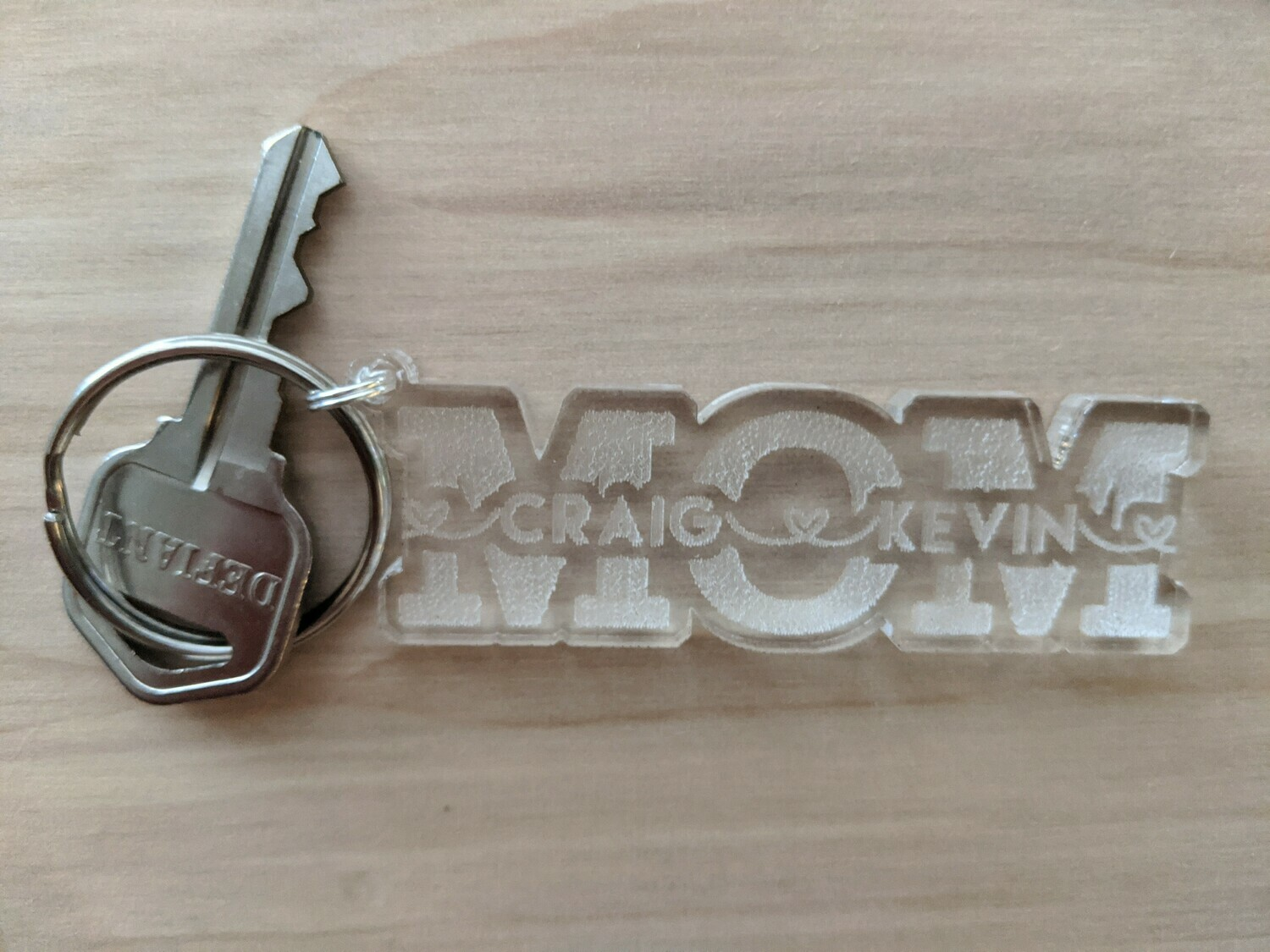 Keychain just for Mom - Customized with Kids Names