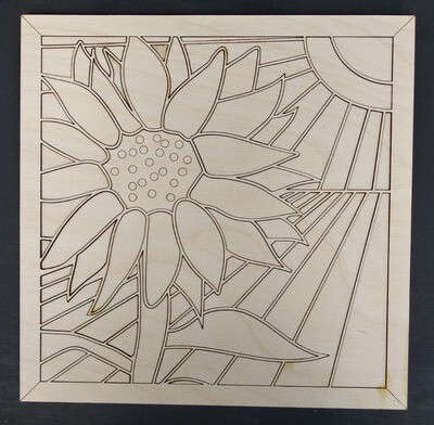 DIY - ART FROM HOME - Painting Puzzle - SUNFLOWER (Ages 12 up)