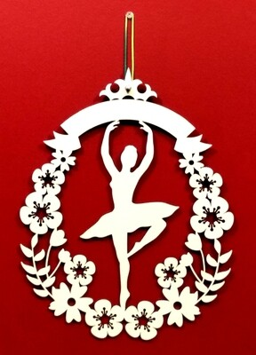 Ballerina In Floral Frame (Adult Or Child Options)