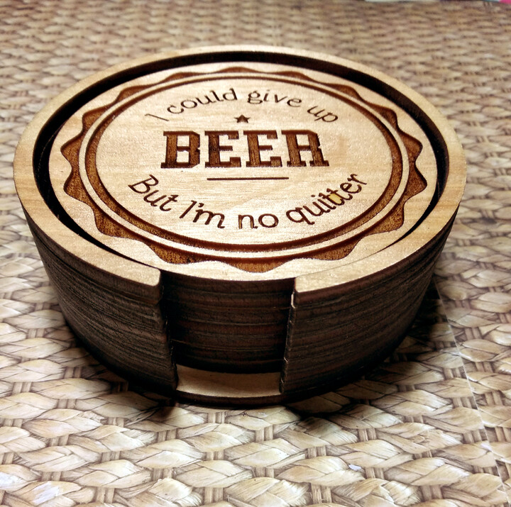 Coasters - Beer Collection - With Unique Holder