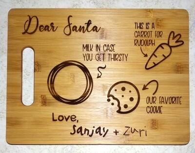 Santa's Milk, Cookie & Carrot Tray