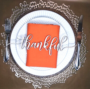 Wooden Words Place Cards - Thanksgiving