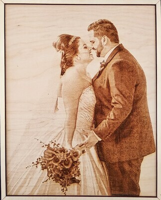 Portraits Engraved on Wood - Upload your Image