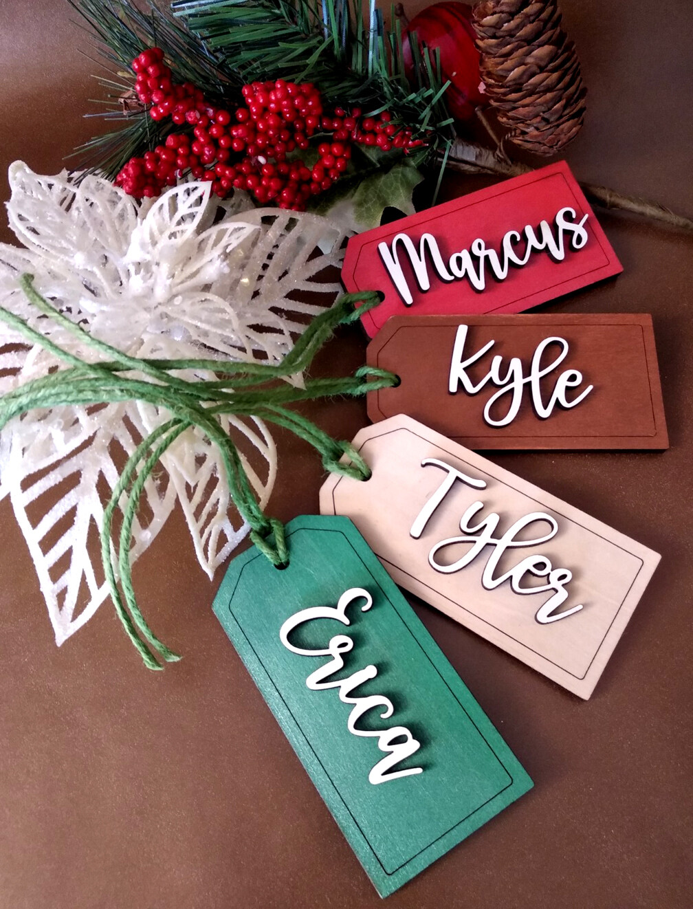 Christmas Stocking Tags : Gift Tags : Place Cards