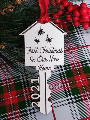 Ornament - First Christmas in our New Home - (Perfect Realtors' Gift)
