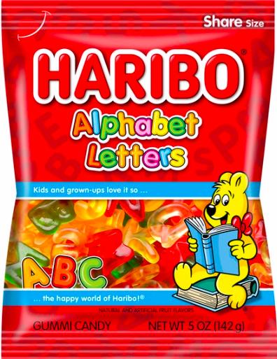 Haribo - Alphabet Letters