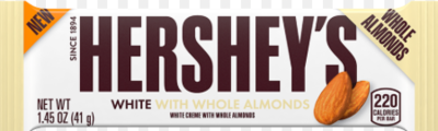 Hersheys White with Almonds