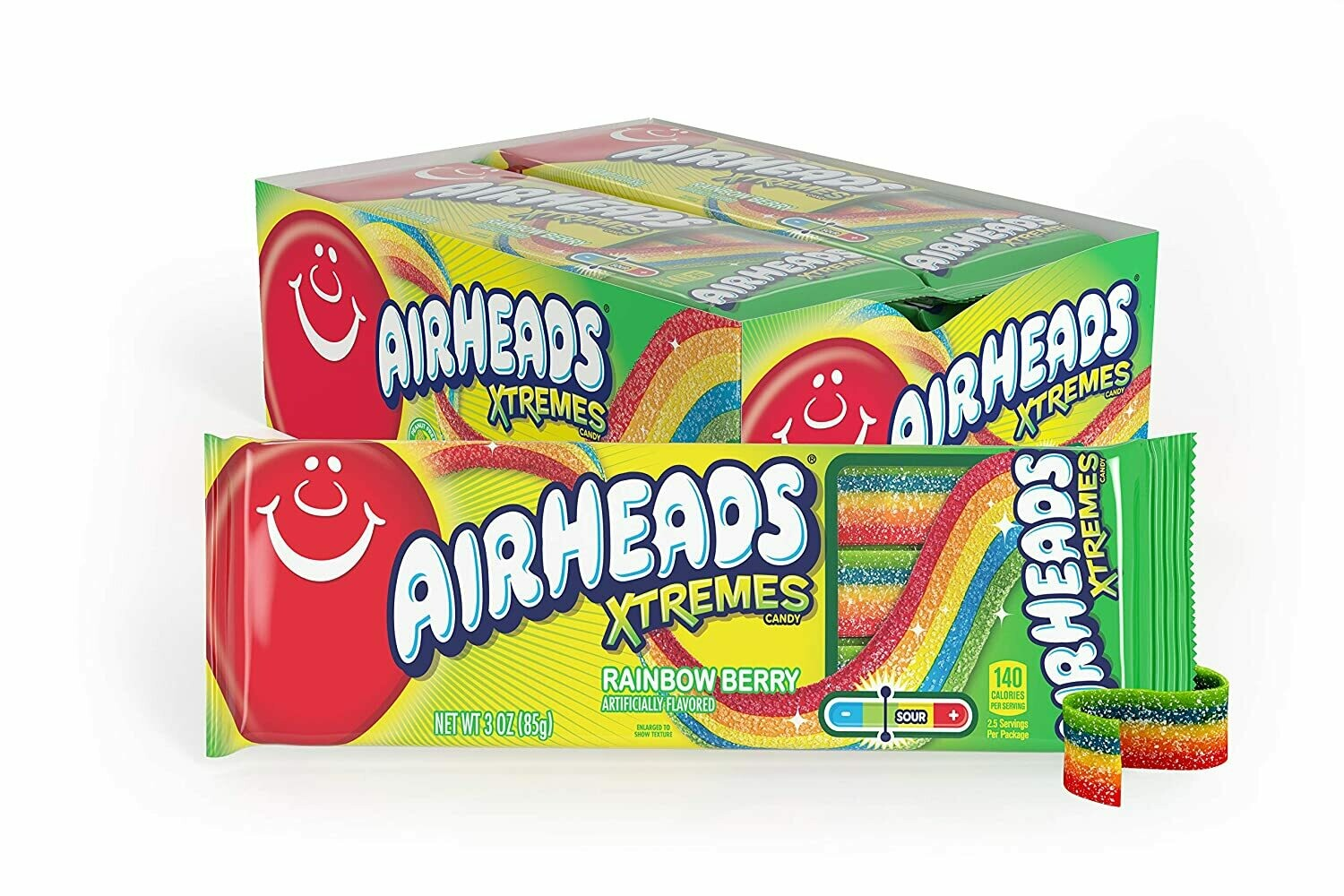 Airheads Xtremes - Belts, Rainbow Berry 2oz