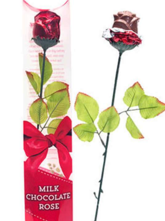 Madelaine - Milk Chocolate Rose, single sleeve pkg